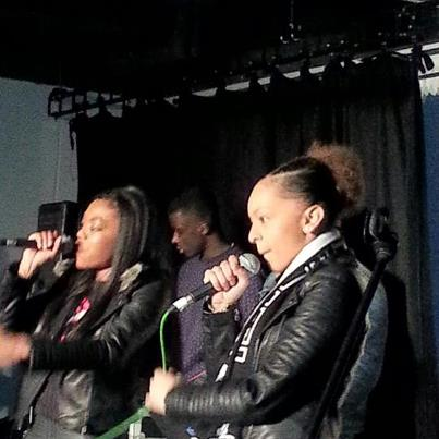 page & Leshurr on stage